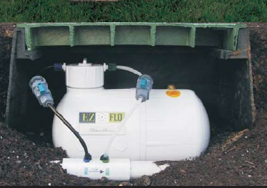 EZ Flo Fertilizer in a valve box